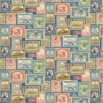 Northcott Vintage Travel - Stamps - 20735-44