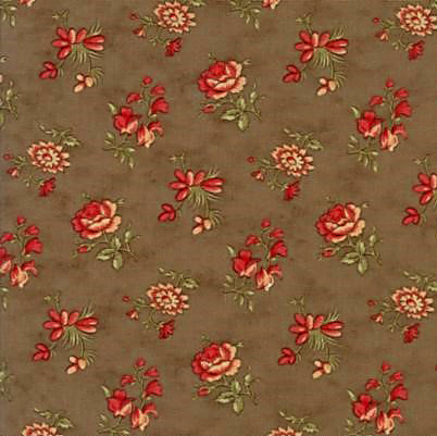 Moda Courtyard Brown with Floral Print 44124-20