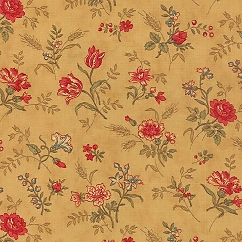 Moda Mille Couleurs Tan with Multi-Coloured Floral Print 44082-11